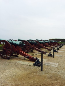 Die Kanonen vor Kronborg Slot