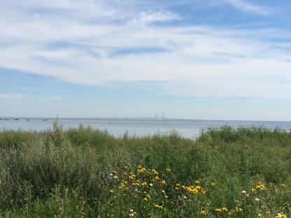 Die Øresundbrücke in der Ferne