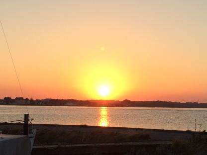 Sonnenuntergang auf Årø