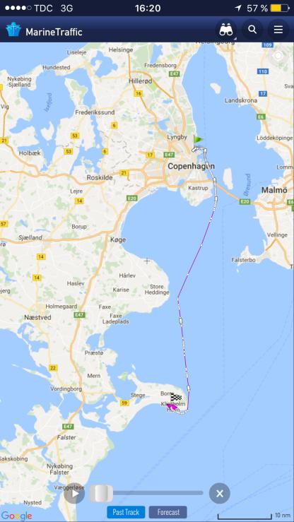 Törn Kopenhagen-Klintholm